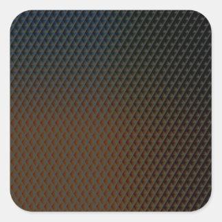 Brown-Beschaffenheit Quadratischer Aufkleber