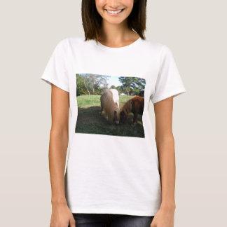 """Brown blond,"""" Miniaturpferde """" zwei kleine Ponys T-Shirt"""