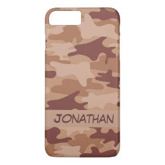 Brown-Camouflage-Tarnungs-Name personalisiert iPhone 7 Plus Hülle
