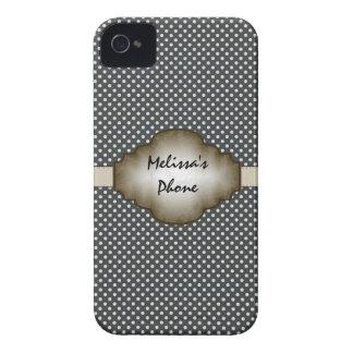 Brown et caisse beige de téléphone de Blackberry d