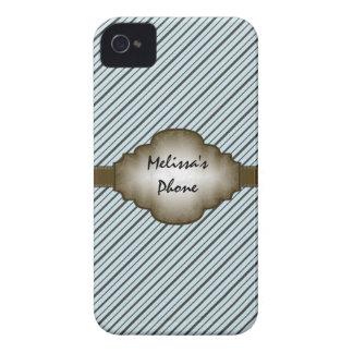 Brown et caisse bleue de téléphone de Blackberry Coque iPhone 4