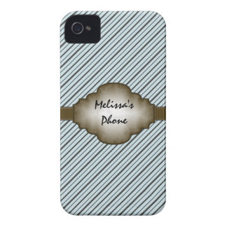 Brown et caisse bleue de téléphone de Blackberry d Coque Case-Mate iPhone 4