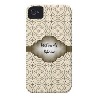 Brown et caisse vintage beige de téléphone de coque iPhone 4