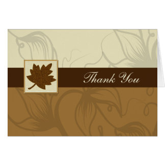 brown fall wedding Thank You Cards