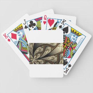 Brown-Fraktal Bicycle Spielkarten