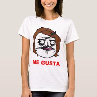 Brown-Frau ich Gusta Comic-Raserei-Gesicht Meme T-Shirt