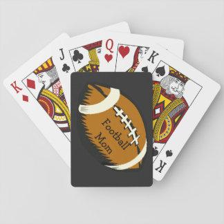 Brown-Fußball-Mamma-Sport-Spielkarten Spielkarten