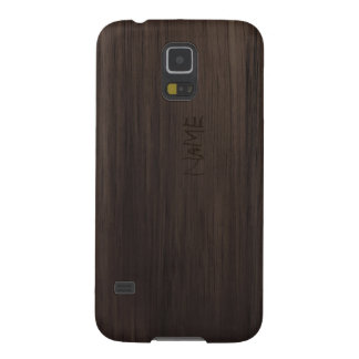 Brown-Holz mit graviertem Namen Samsung Galaxy S5 Cover