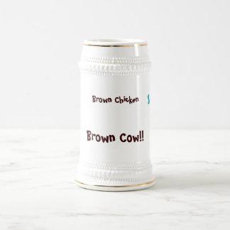 Brown-Huhn-Brown-Kuh Bierglas