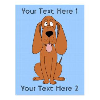 Brown-HundeCartoon. Jagdhund Postkarte