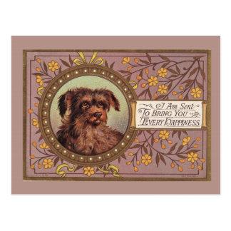 Brown-HundeVintage Wiedergabe Postkarte