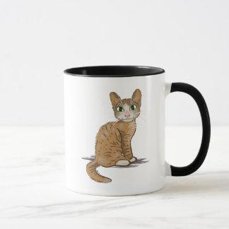 Brown-Katzen-Illustration Tasse