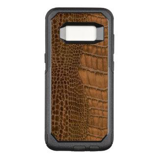 Brown-Krokodil-nachgemachtes Imitat-veganes Tier OtterBox Commuter Samsung Galaxy S8 Hülle