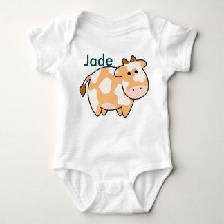 Brown-Kuh-Gewohnheits-Strampler Baby Strampler