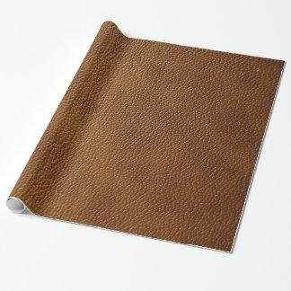 Brown-Leder-Blick Geschenkpapier