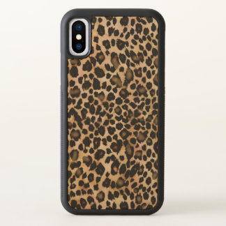 Brown-Leopard-Tierdruck-Kasten iPhone X Hülle