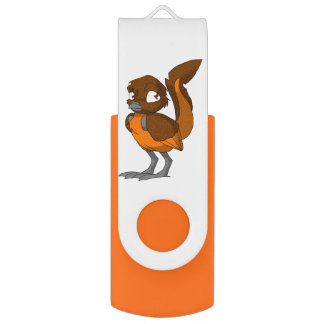 Brown/orange Reptilian-Vogel USB Stick