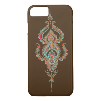 Brown Paisley iPhone 7 Fall iPhone 8/7 Hülle