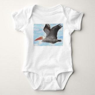 Brown-Pelikan-Baby-Shirt Baby Strampler
