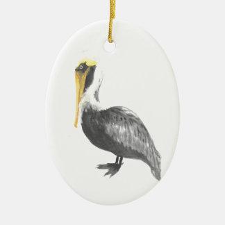 Brown-Pelikan Keramik Ornament