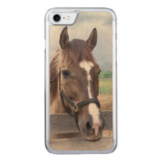 Brown-Pferd mit dem Halter Carved iPhone 8/7 Hülle