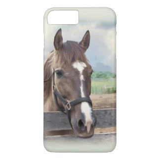 Brown-Pferd mit dem Halter iPhone 8 Plus/7 Plus Hülle