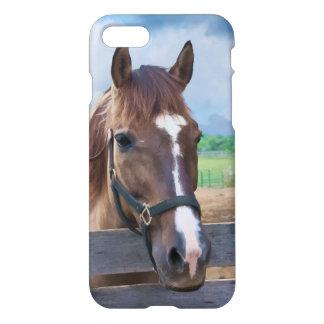 Brown-Pferd mit dem Halter kundengerecht iPhone 8/7 Hülle