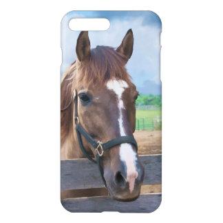 Brown-Pferd mit dem Halter kundengerecht iPhone 8 Plus/7 Plus Hülle