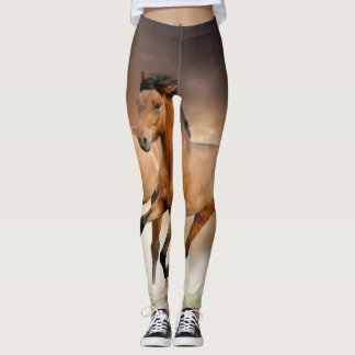 Brown-Pferdelauf Leggings
