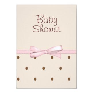 Brown punktiert Babyparty-Einladungen 12,7 X 17,8 Cm Einladungskarte