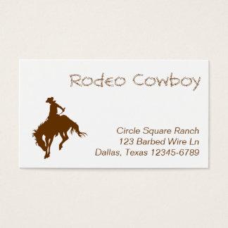 Brown-Rodeo-Cowboy Visitenkarte