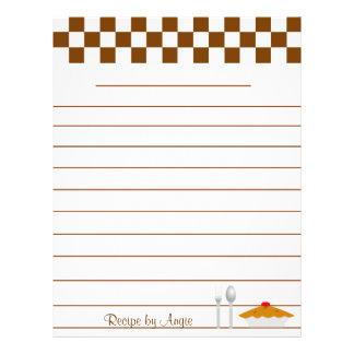 Brown-Schachbrett-Torten-Rezept-Papier Flyer