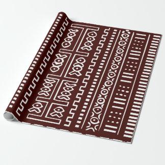 Brown-Schlamm-Stoff-Muster Geschenkpapier