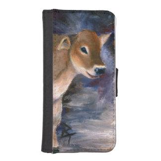 Brown-Schweizer-Kalb I Phone 5 Portmonee
