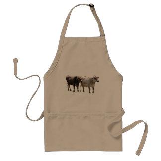 Brown-Schweizer-Kühe Schürze