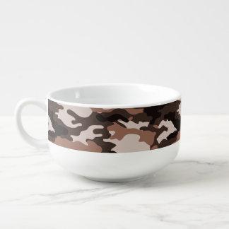 Brown-Tarnungs-Muster-Suppen-Tasse Große Suppentasse