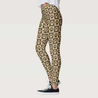 Brown-Tatzen-Drucke Leggings