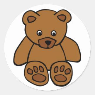 Brown-Teddybär Runder Aufkleber