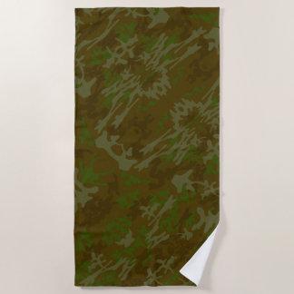 Brown und Grün-Tarnungs-Muster Strandtuch