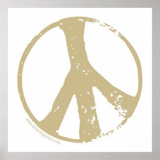 Brown verblaßte Schmutz-Art-Friedenszeichen