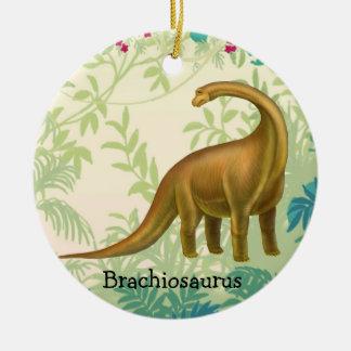 Brownbrachiosaurus-Dinosaurier-Verzierung Keramik Ornament