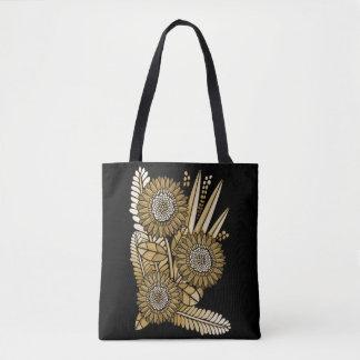 Browngerbera-Gänseblümchen-Blumen-Blumenstrauß Tasche