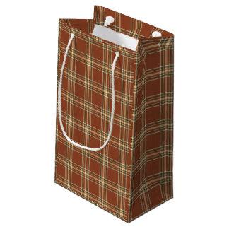 Browntartan-Geschenk-Tasche Kleine Geschenktüte