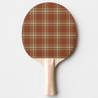 Browntartan-Klingeln Pong Paddel Tischtennis Schläger