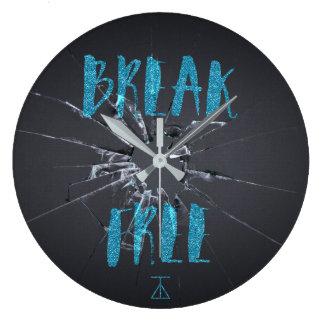 Bruch-freie Graffiti-Uhr Große Wanduhr