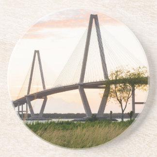 Brücke Charlestons South Carolina - Sandstein Untersetzer