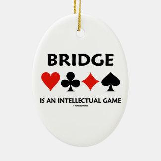Brücke ist ein intellektuelles Spiel (vier Keramik Ornament