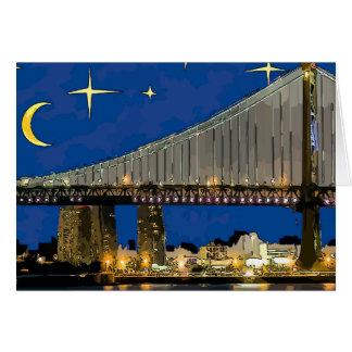 Brücke sternenklare Nachtbens Franklin Karte