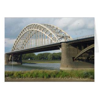 Brücke über Fluss Waal (Waalbrug) Grußkarte