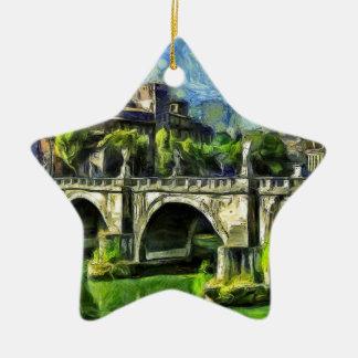 Brücke von Engeln Keramik Ornament